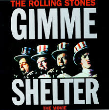 A promo poster for the film Gimme Shelter