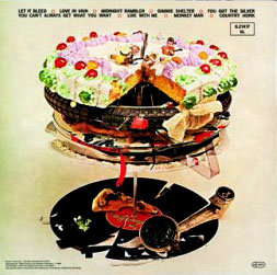 The back cover of the Let It Bleed album.
