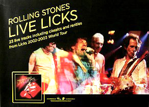 Promo poster for the Live Licks album