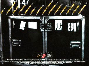 The back cover of the No Security album