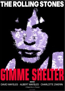 A DVD cover of Gimme Shelter film