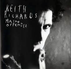 Keith Richards on the cover his appropriately named Main Offender solo album, released in 1992