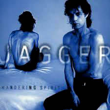 Mick Jagger on the cover of his solo album Wandering Spirit