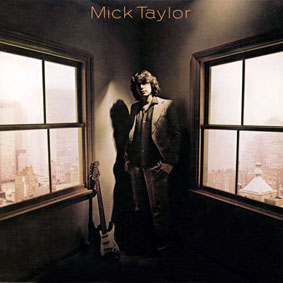 GOING IT ALONE: Mick Taylor, from the cover of his first solo album, simply titled Mick Taylor (1979)