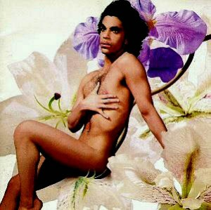 Prince on the front cover of his 1988 album Lovesexy