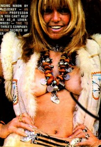 Anita Pallenberg on the cover of penthouse magazine